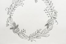 FLOWER WREATH SKETCH