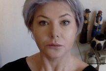 Grey silver hair