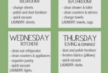 Everyday cleaning schedule