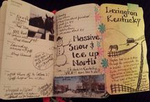Art Journal Ideas / I'm so intrigued by art journals / by Delores McNair