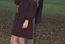 Wine dress with pompon hat / http://afinaskaterblogspotcom.blogspot.ru/2013/11/day-casual-with-wine-asos-dress-and-new.html