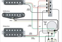 HSH Dimarzio Wiring / Masi's guitar needs new wiring.  HSH one volue