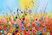 çiçek yağlı boya