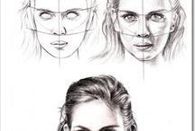 Desenhos realistas rosto