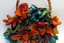 Felted Bags/Purses / Images of bags made using different felting technique