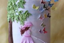 birthday cake girls butterfly