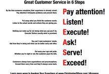 Asiakaspalvelu / Erilaisia asiakaspalveluun liittyviä asioita