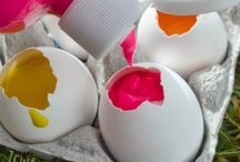 Kids Craft / Eggshell Throwing Art