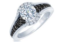 Noir by Frederic Sage / Black diamond accented semi-mount rings by Frederic Sage