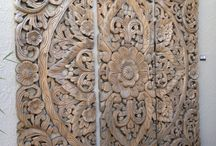 Wood carving Bali