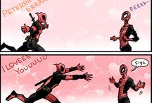 deadpool and spidy-boi