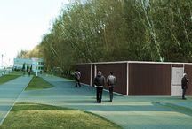 Design of public bathroom, +Przemysław Kozyra / Projekt konkursowy