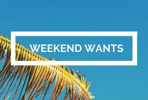 Weekends I want! / All the places I looooooong to go very soon for a gloriously delicious #weekend escape.