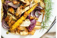roast vege  balmasic and maple syrup