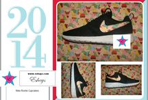 Custom Roshe Runs / Nike has come out with a great comfortable shoe called Nike Roshe Run. As a shoe customizer we love Roshes and can place almost any print on them. This is a collection of different print/ designs on a pair of  Nike Roshes. Get a pair  for Women, Men and Kids on Sale at Eshays.