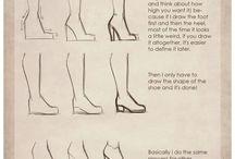 dessin pieds