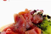 Cocina mediterránea fusión japonesa / Mandarina Chef Un nuevo estilo de cocina ha llegado a Mandarina. Sushi bar tradicional japonés.