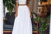 Bridal Separates / Two-piece wedding dresses, crop tops, bridal skirts and gorgeous separates for brides.