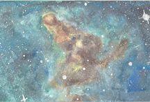 Turquoise Janina / Watercolor art by Bencze Anita Turquoise Janina illustration