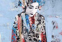 hush ... (klimt) street art