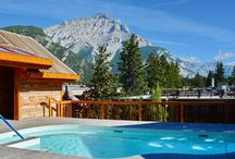 Moose Hotel Suites Banff / Ski Canada - family rooms sleep four from £125pn A short stroll to the lively and stylish town centre, the hotel reflects the incredible mountain culture of the Canadian Rockies and Banff National Park. Early booking discount - guaranteed snow, 107 runs!
