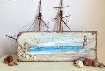 Πίνακες και διακοσμητικά τοίχου απο θαλασσόξυλα