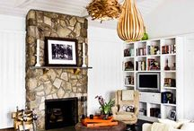 floor and fireplace combos