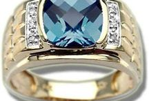 Mens Blue Topaz Rings / Blue topaz is the birthstone for December. The icy-blue of topaz suits well to December. Folks born in the last month of the year grow a pleasant disposition & patient attitude wearing blue topaz.
