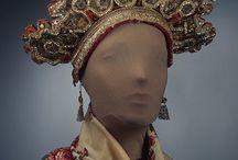 Headwear /  folk costume, vintage and antique costume