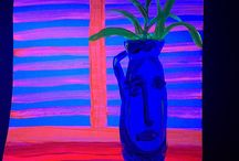vase with blinds