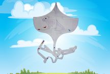 Krazy Kids Krafts / Easy kites for kids to make and fly!