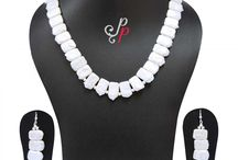 Pearl Necklace Set in Rectangular Shaped Coin Pearls