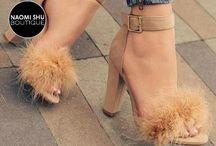 ZENA Faux Fur Heels!!