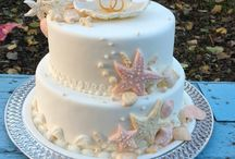 deniz temalı nişan pastası