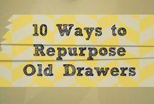 repurpose old  drawers 2014
