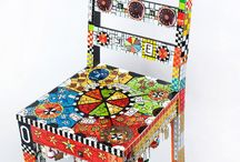 Furniture Funky Finish chairs/benches/stools / by Liz Eggers