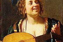 Barokkmalerier med kvinnelige musikere