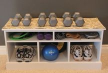 Storage for gym or garage