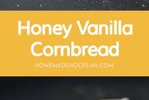 Honey vanilla cornbread