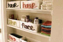 Organizing the bathroom / by Danielle Henderson Evans