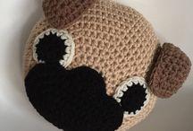 Crotchet pillows for  children