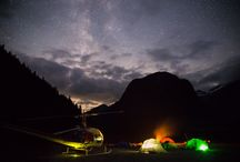 Heli-Camping / Avoid the crowded provincial parks and popular backcountry areas by taking a scenic flight deep into the mountains for heli-camping!