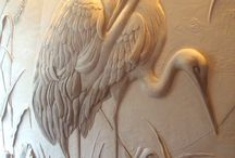 Plaster relief sculpture / Wall& tiles