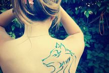 Tattoo / That's my wolf tattoo.