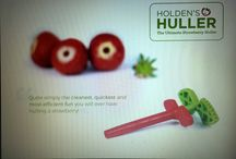 Holdenshuller - Strawberry Huller / My own design on my Strawberry Huller in memory of my Dad. The easiest Strawberry Huller ever invented and fun too!  Everyone loves using www.holdenshuller.co.uk  - make your life easy! Wimbledon's round the corner ........ strawberries and cream.