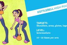 Kettlebells exercise & workout
