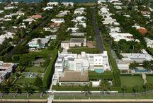 RM 1979 A. Alfred Taubman Residence, aka the Palm Beach House, aka Camelot, 958 North Lake Way, Palm Beach FL. / RICHARD MEIER