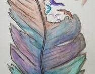 Tekeningen - Aquarelpotloden / Diverse tekeningen - gemaakt met aquarelpotloden