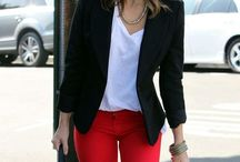 red trousers outfit