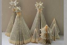Buch falten Weihnachtsbaum